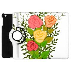 Roses Flowers Floral Flowery Apple Ipad Mini Flip 360 Case