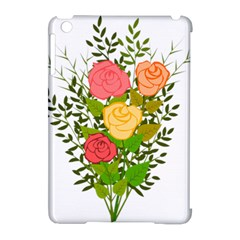 Roses Flowers Floral Flowery Apple iPad Mini Hardshell Case (Compatible with Smart Cover) by Nexatart