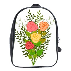 Roses Flowers Floral Flowery School Bags (xl)  by Nexatart