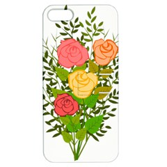 Roses Flowers Floral Flowery Apple Iphone 5 Hardshell Case With Stand by Nexatart