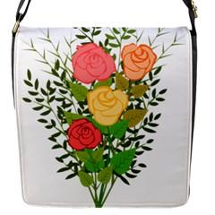Roses Flowers Floral Flowery Flap Messenger Bag (s)