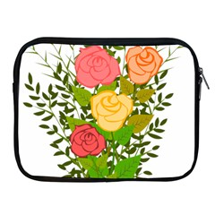 Roses Flowers Floral Flowery Apple Ipad 2/3/4 Zipper Cases by Nexatart