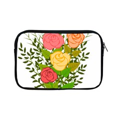 Roses Flowers Floral Flowery Apple Ipad Mini Zipper Cases by Nexatart