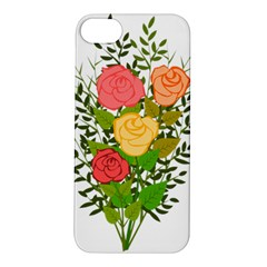 Roses Flowers Floral Flowery Apple Iphone 5s/ Se Hardshell Case