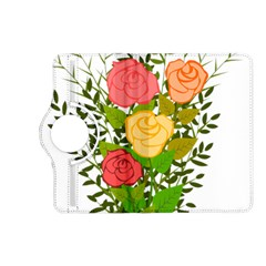 Roses Flowers Floral Flowery Kindle Fire Hd (2013) Flip 360 Case by Nexatart