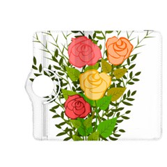 Roses Flowers Floral Flowery Kindle Fire Hdx 8 9  Flip 360 Case