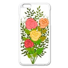 Roses Flowers Floral Flowery Apple Iphone 6 Plus/6s Plus Enamel White Case