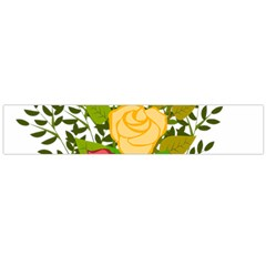 Roses Flowers Floral Flowery Flano Scarf (large) by Nexatart