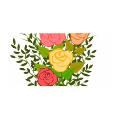 Roses Flowers Floral Flowery Satin Wrap