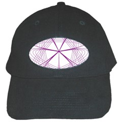 Purple Spirograph Pattern Circle Geometric Black Cap by Nexatart