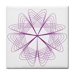 Purple Spirograph Pattern Circle Geometric Tile Coasters by Nexatart