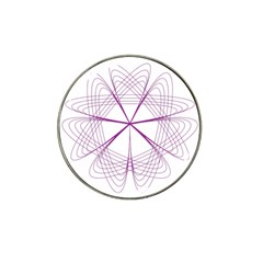 Purple Spirograph Pattern Circle Geometric Hat Clip Ball Marker by Nexatart