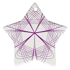 Purple Spirograph Pattern Circle Geometric Star Ornament (two Sides)