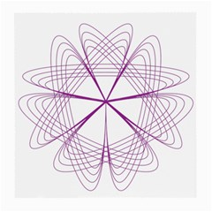 Purple Spirograph Pattern Circle Geometric Medium Glasses Cloth by Nexatart