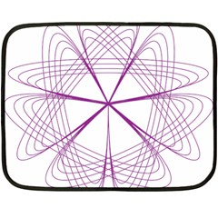Purple Spirograph Pattern Circle Geometric Fleece Blanket (mini) by Nexatart