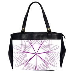 Purple Spirograph Pattern Circle Geometric Office Handbags (2 Sides)  by Nexatart