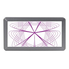 Purple Spirograph Pattern Circle Geometric Memory Card Reader (mini) by Nexatart