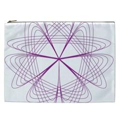 Purple Spirograph Pattern Circle Geometric Cosmetic Bag (xxl)  by Nexatart