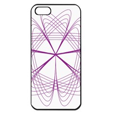 Purple Spirograph Pattern Circle Geometric Apple Iphone 5 Seamless Case (black) by Nexatart
