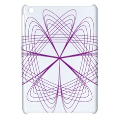 Purple Spirograph Pattern Circle Geometric Apple Ipad Mini Hardshell Case by Nexatart