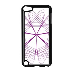 Purple Spirograph Pattern Circle Geometric Apple Ipod Touch 5 Case (black)