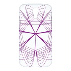 Purple Spirograph Pattern Circle Geometric Samsung Galaxy S4 I9500/i9505 Hardshell Case by Nexatart