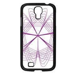 Purple Spirograph Pattern Circle Geometric Samsung Galaxy S4 I9500/ I9505 Case (black) by Nexatart