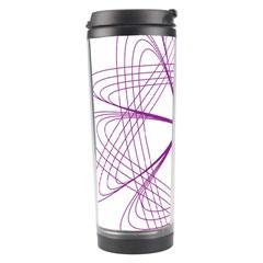 Purple Spirograph Pattern Circle Geometric Travel Tumbler by Nexatart