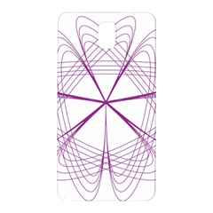 Purple Spirograph Pattern Circle Geometric Samsung Galaxy Note 3 N9005 Hardshell Back Case