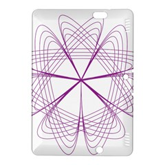Purple Spirograph Pattern Circle Geometric Kindle Fire Hdx 8 9  Hardshell Case by Nexatart