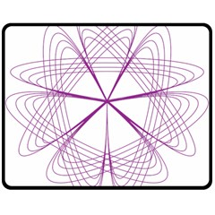 Purple Spirograph Pattern Circle Geometric Double Sided Fleece Blanket (medium)  by Nexatart