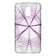 Purple Spirograph Pattern Circle Geometric Galaxy S5 Mini by Nexatart