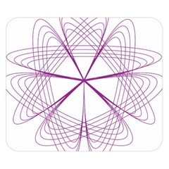 Purple Spirograph Pattern Circle Geometric Double Sided Flano Blanket (small)  by Nexatart