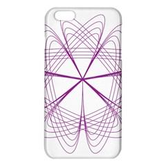 Purple Spirograph Pattern Circle Geometric Iphone 6 Plus/6s Plus Tpu Case