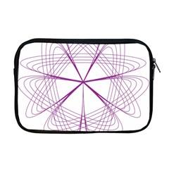 Purple Spirograph Pattern Circle Geometric Apple Macbook Pro 17  Zipper Case