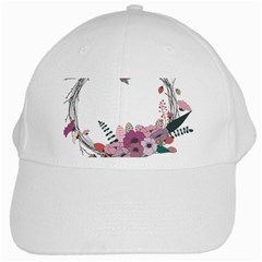 Flowers Twig Corolla Wreath Lease White Cap by Nexatart