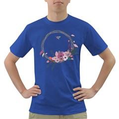 Flowers Twig Corolla Wreath Lease Dark T Shirt