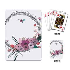 Flowers Twig Corolla Wreath Lease Playing Card by Nexatart