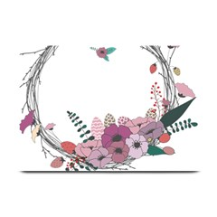 Flowers Twig Corolla Wreath Lease Plate Mats by Nexatart