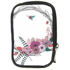 Flowers Twig Corolla Wreath Lease Compact Camera Cases by Nexatart