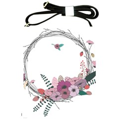 Flowers Twig Corolla Wreath Lease Shoulder Sling Bags by Nexatart