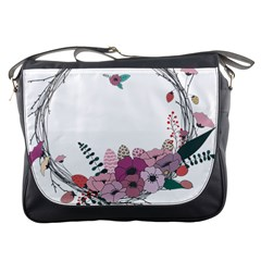 Flowers Twig Corolla Wreath Lease Messenger Bags