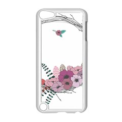 Flowers Twig Corolla Wreath Lease Apple Ipod Touch 5 Case (white) by Nexatart