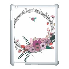 Flowers Twig Corolla Wreath Lease Apple Ipad 3/4 Case (white)