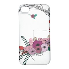 Flowers Twig Corolla Wreath Lease Apple Iphone 4/4s Hardshell Case With Stand by Nexatart