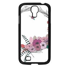 Flowers Twig Corolla Wreath Lease Samsung Galaxy S4 I9500/ I9505 Case (black) by Nexatart