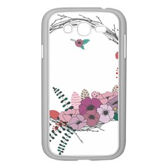 Flowers Twig Corolla Wreath Lease Samsung Galaxy Grand Duos I9082 Case (white)