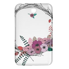 Flowers Twig Corolla Wreath Lease Samsung Galaxy Tab 3 (7 ) P3200 Hardshell Case  by Nexatart