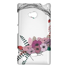 Flowers Twig Corolla Wreath Lease Nokia Lumia 720 by Nexatart