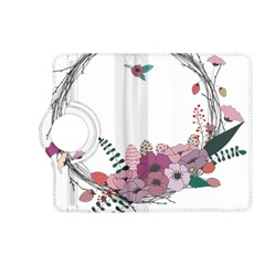 Flowers Twig Corolla Wreath Lease Kindle Fire Hd (2013) Flip 360 Case by Nexatart